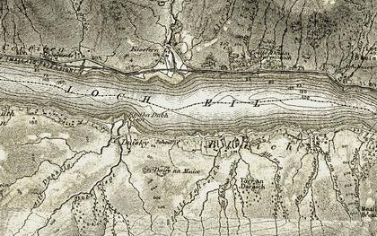 Old map of Loch Eil in 1906-1908