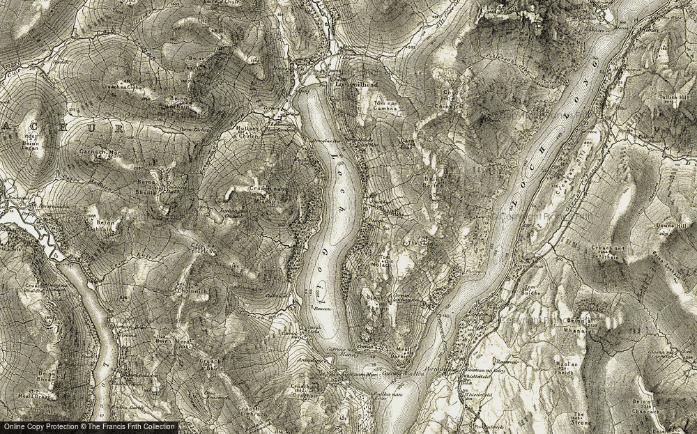 Old Map of Historic Map covering Woodlands in 1905-1907