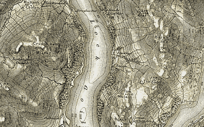 Old map of Loch Goil in 1905-1907