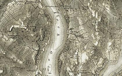 Old map of Leacann in 1905-1907