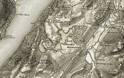 Old map of Wester Drummond in 1908