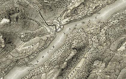 Old map of Loch Laggan in 1908