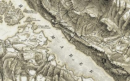 Old map of Abhainn na Fùirneis in 1908-1909