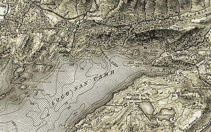 Old map of Loch Nan Uamh in 1908