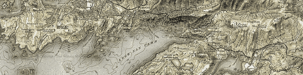 Old map of Àird-nam-Bùth in 1908