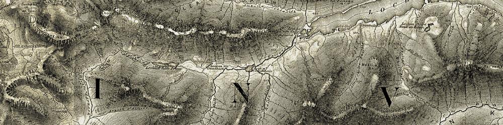 Old map of Abhainn Chosaidh in 1908