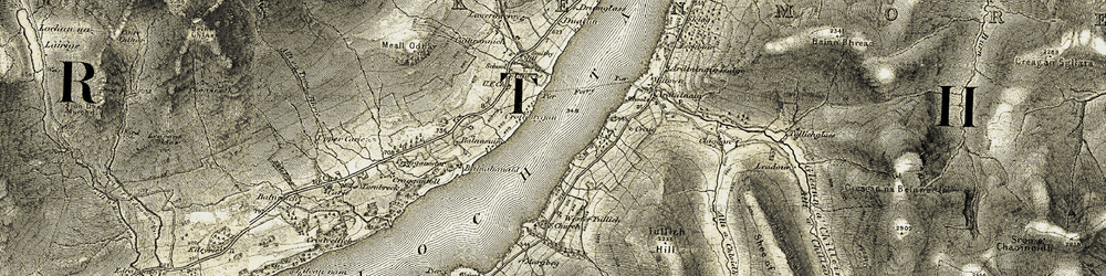 Old map of Wester Tullich in 1906-1908