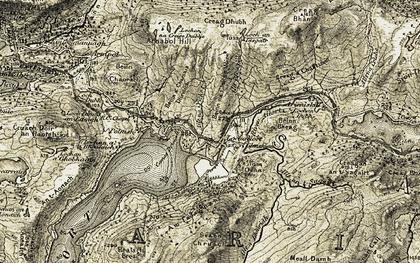 Old map of Lochailort in 1906-1908