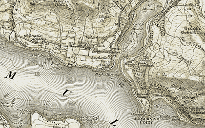 Old map of Ardness in 1906-1908
