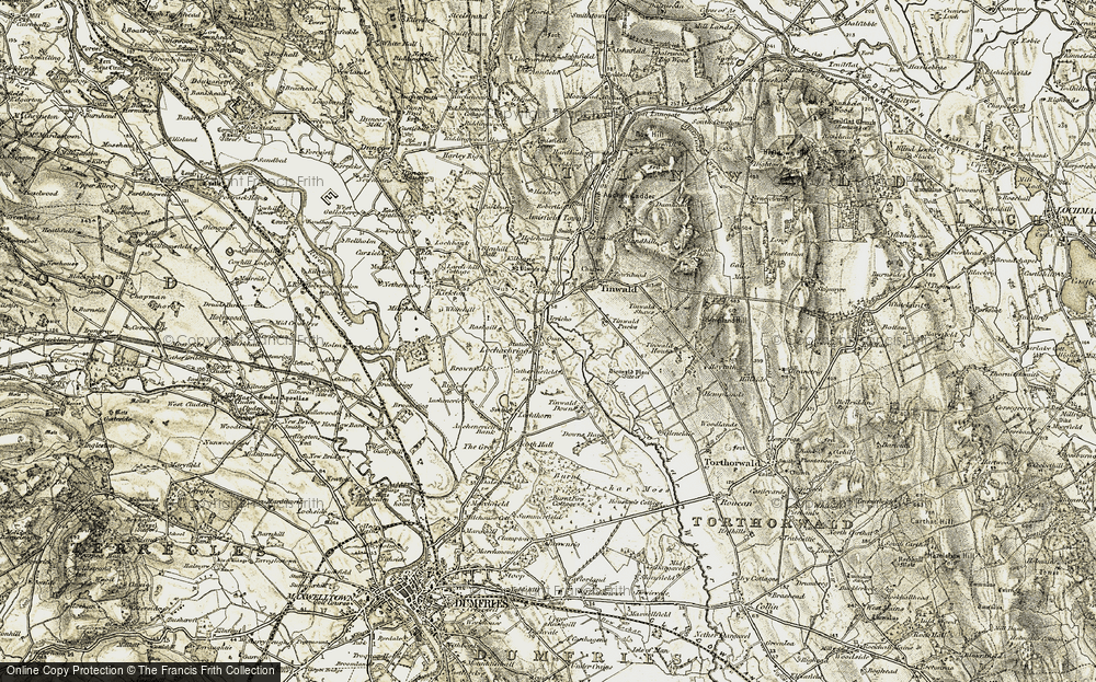 Old Map of Historic Map covering Tinwald Parks in 1901-1905