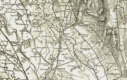 Old map of Tinwald Parks in 1901-1905