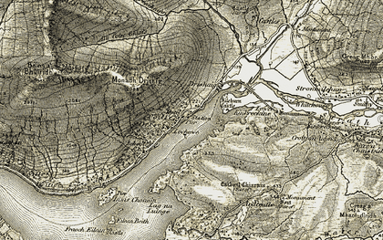 Old map of Allt Mhoille in 1906