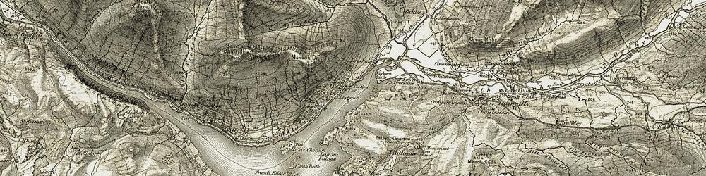 Old map of Allt Coire Creachainn in 1906