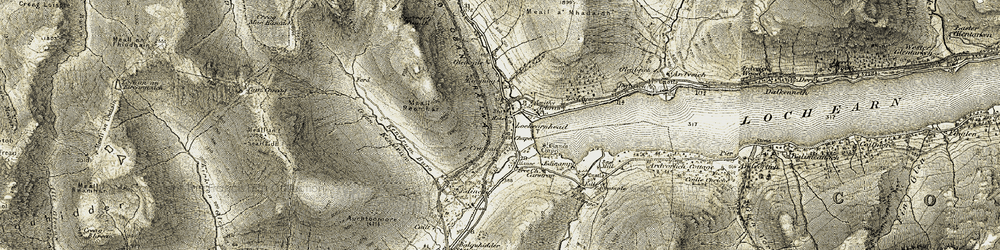 Old map of Lochearnhead in 1906-1907