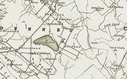 Old map of Lochend in 1912