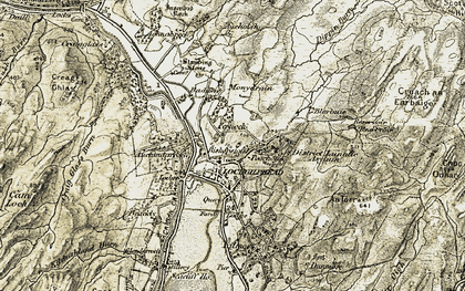 Old map of Lochgilphead in 1906-1907