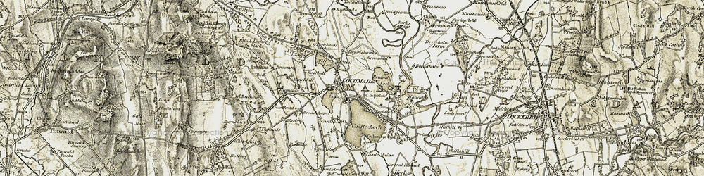 Old map of Whitelaird in 1901-1905