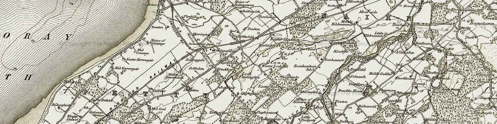 Old map of Wester Lochend in 1911-1912