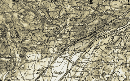 Old map of Wester Gavin in 1905-1906