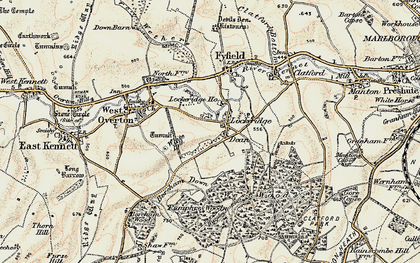 Old map of White Hill in 1897-1899