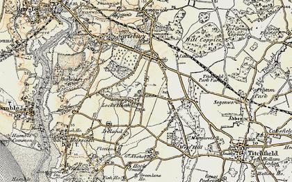 Old map of Locks Heath in 1897-1899