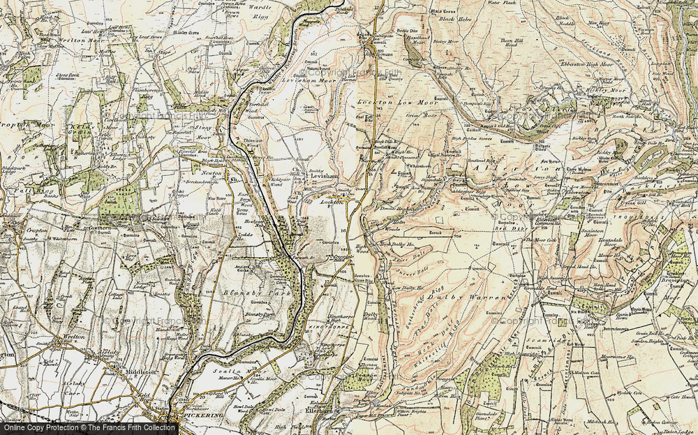 Old Map of Historic Map covering Adderstone Rigg in 1903-1904