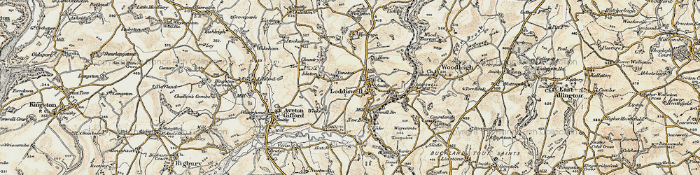 Old map of Alleron in 1899