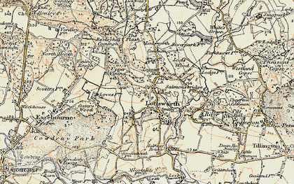 Old map of Lodsworth in 1897-1900