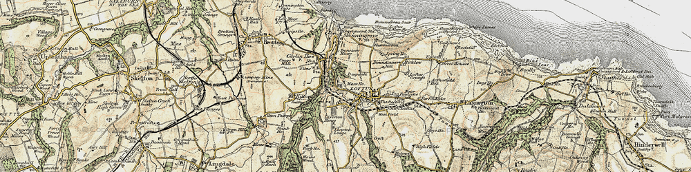 Old map of Loftus in 1903-1904