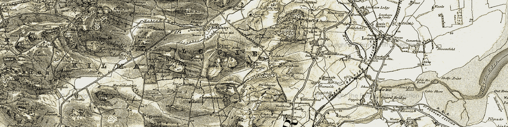 Old map of Airdit in 1906-1908