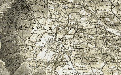 Old map of Allalogie in 1908-1909