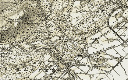 Old map of Logie Hill in 1911-1912