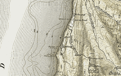 Old map of Londain in 1909