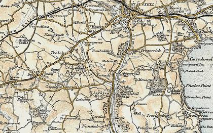 Old map of London Apprentice in 1900