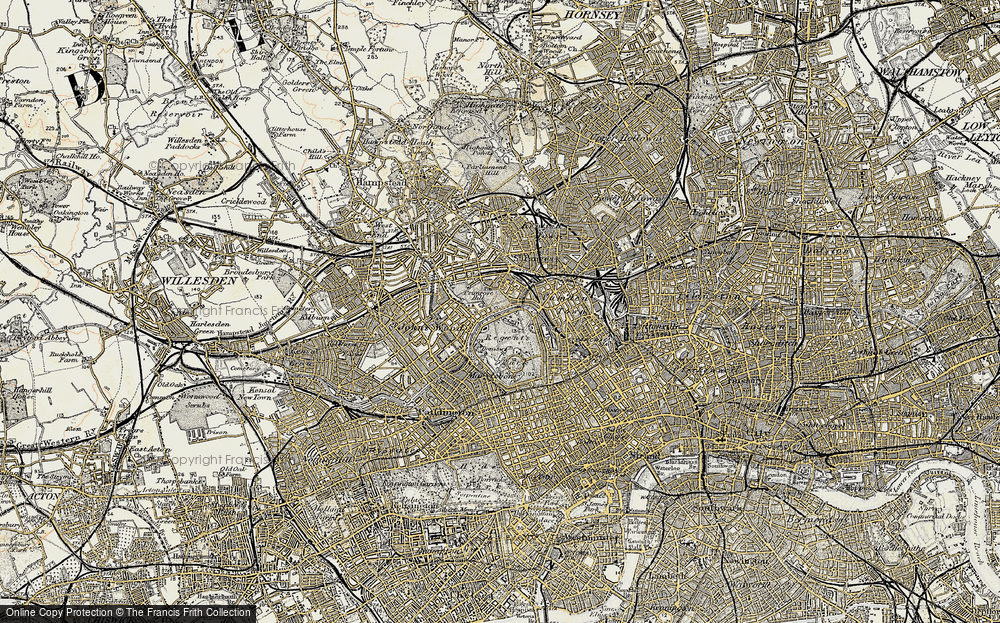 Old Map of London Zoo, 1897-1909 in 1897-1909