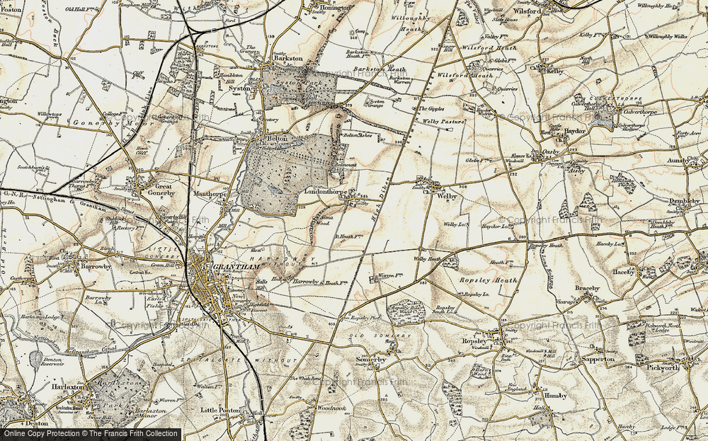 Old Map of Historic Map covering Alma Park Industrial Estate in 1902-1903