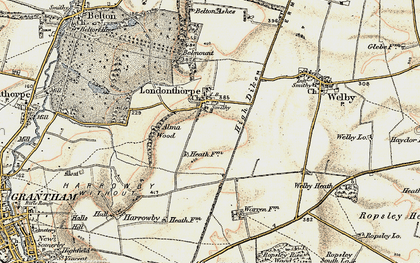 Old map of Alma Wood in 1902-1903