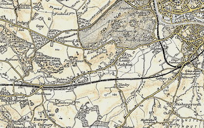 Old map of Ashton Hill in 1899