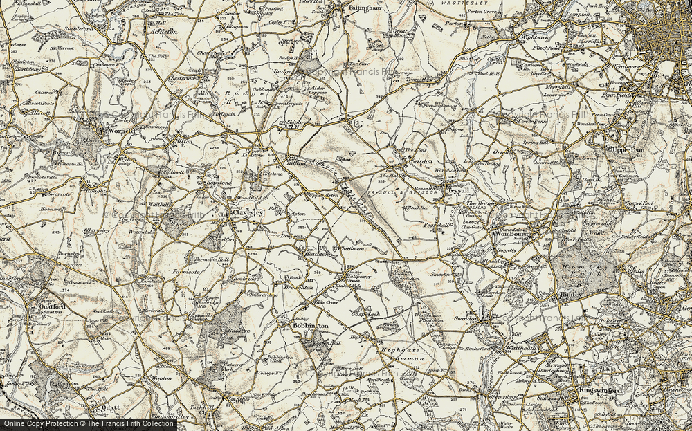 Old Map of Historic Map covering Whittimere in 1902