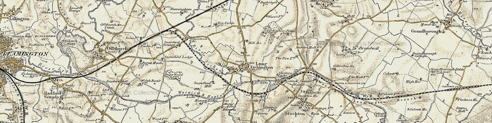 Old map of Long Itchington in 1898-1902