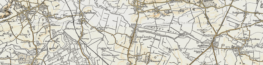 Old map of Witcombe Bottom in 1898-1900