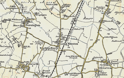 Old map of Willicote Pastures in 1899-1901