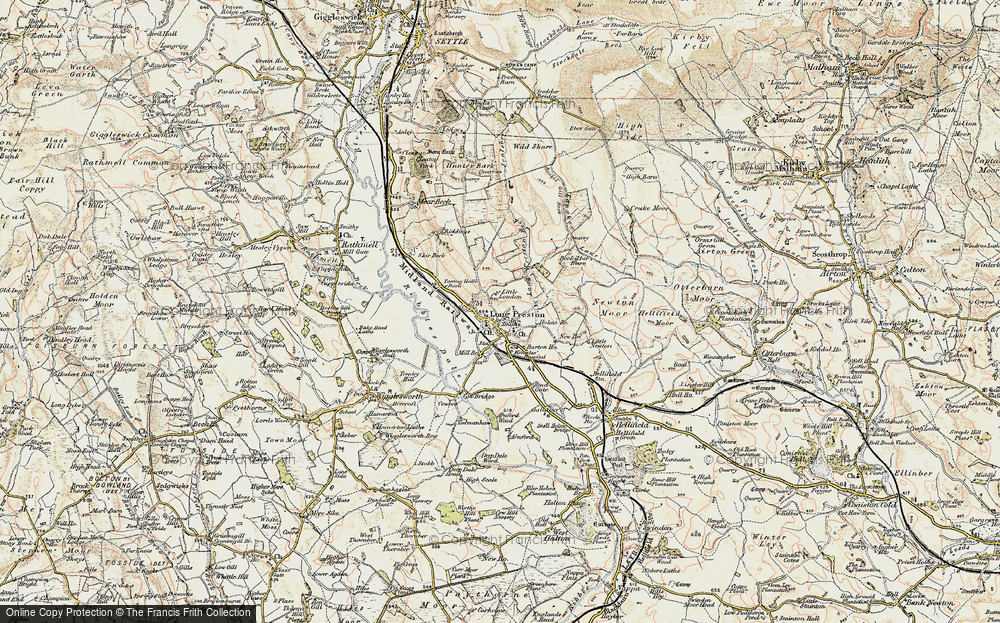 Old Map of Long Preston, 1903-1904 in 1903-1904