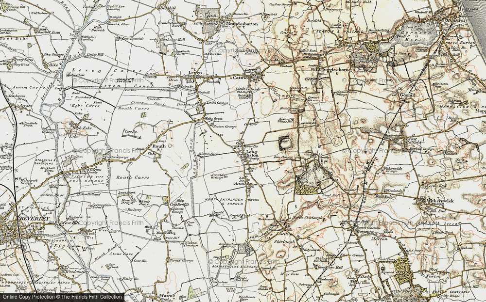 Old Map of Long Riston, 1903-1908 in 1903-1908
