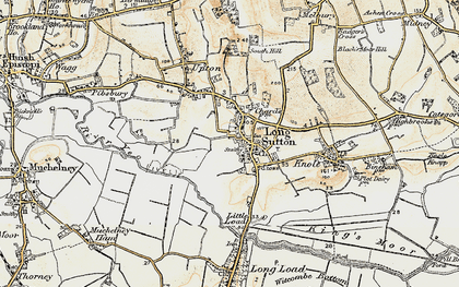 Old map of Long Sutton in 1898-1900