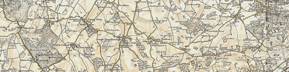 Old map of Long Sutton in 1898-1909