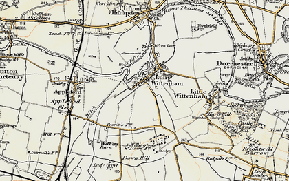 Old map of Long Wittenham in 1897-1898