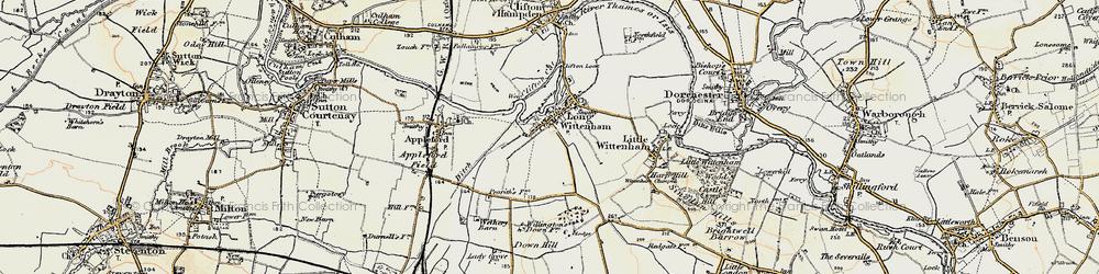 Old map of Long Wittenham in 1897-1898
