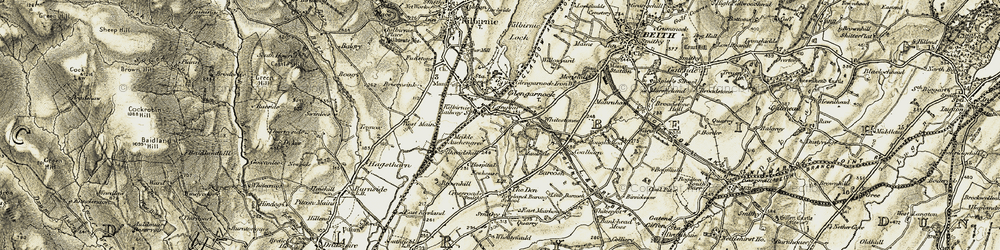Old map of Whitestanes in 1905-1906