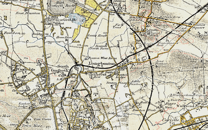 Old map of Longbenton in 1901-1903